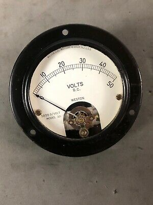 Weston Eletric  Dc Volt Meter  Model 301