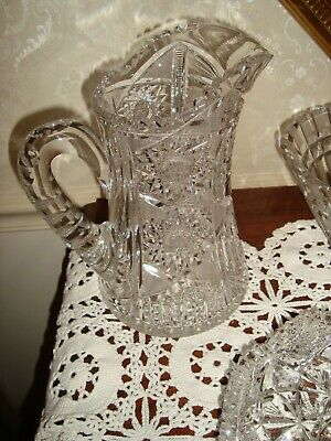 Cut Glass Antique Pitcher In Excellent Condition A Dream Of A Pitcher