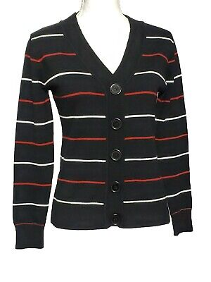 Luvienne Women Striped Sweather Shirt Casual Stretch Blouse Long Sleeve Size S