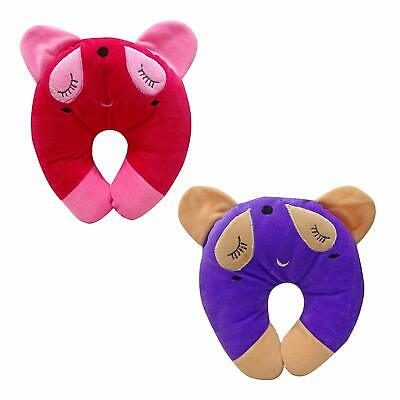 New Born Baby Head Pillow Set of 2 Cute Head Shaping Neck Protector COMBCS01