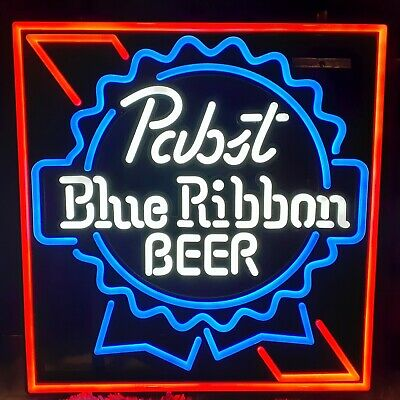"""Brand New In Box! Pabst Blue Ribbon PBR LED Opti Neon Logo Beer Sign 15x15"""""""
