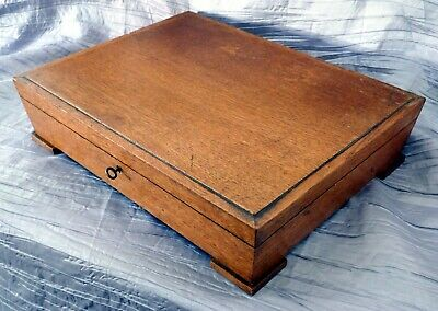 Large Antique (1932) Art Deco Artists Storage Box Sycamore Hard Wood (Lockable)