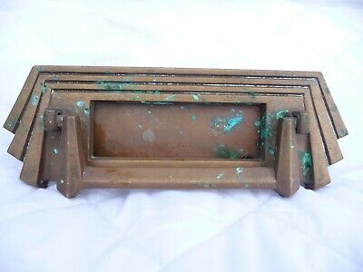 Antique Art Deco Bronze Letterbox Door Knocker reg No Dates To 1934 Great Detail