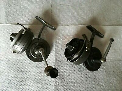 2 Ancien Moulinet Reel Mulinello Carrete Luxor Pezon & Michel Des  Annees 1950