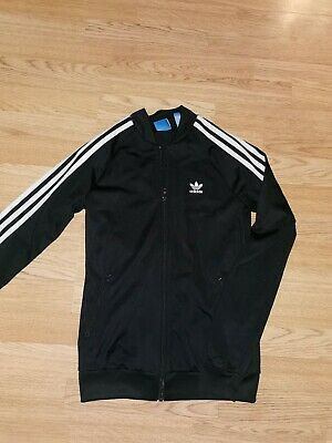 Girls Adidas Black Zip Up Track Top Age 13-14 Years