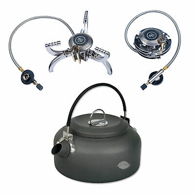 Wychwood Tactical Portable Gas Stove And Carpers Kettle Fishing Camping 0.8L