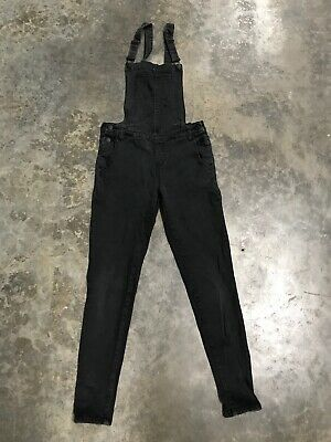 "girls dungarees Age 13-14 Years Kendall + Kylie Black (26"" Waist,  28"" Leg)"