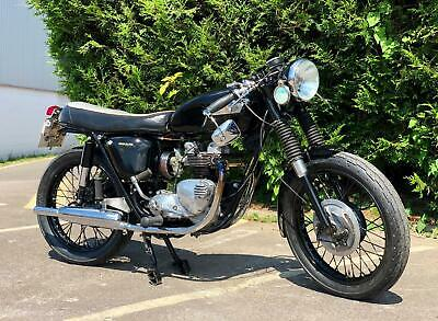 Cafe Racer Triumph T100SS 1967 500cc With Matching Number. Classic Motorcycle