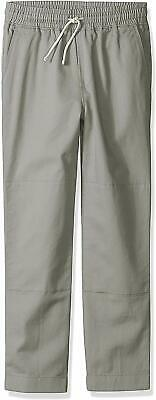 Big Boys' Pant, Pull-on Chino, Double Knee, J.Crew LOOK by Crewcuts, Gray, 16