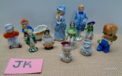 11 Vintage Occupied and Made in Japan Figurines Victorian Art Deco Miniature #JK
