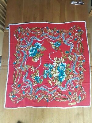 """Pierre Cardin vintage silk scarf 32""""x33."""" Made in Italy. Mint condition"""
