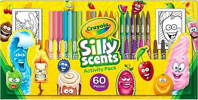 Crayola Silly Scents 60 Piece Activity Pack-Markers, Twistable Pencils & Crayons