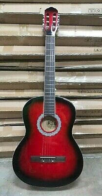 Red 39'' 4/4 Size Beginner classical Acoustic Guitar