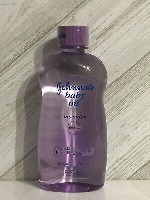 Sealed JOHNSON'S Baby Oil LAVENDER CLINICALLY Mildness 14 Oz. Discontinued Rare