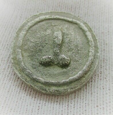 Interesting Ancient Roman Or Byzantine Silver Token With Phallus Brothel Token