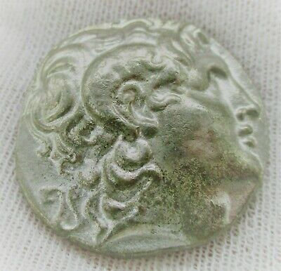 Unresearched Ancient Greek Ar Silver Tetradrachm Coin 13Grams 25Mm