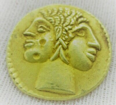Unresearched Ancient Greek High Carat Gold Drachm Coin 8Grams 21Mm