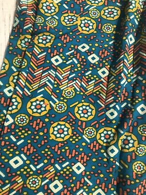 Lularoe Women Girls Leggings Size Tween Petite Women's Teal Yellow
