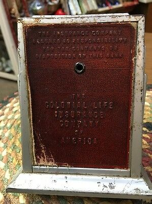 Vintage Calemeter Coin Bank Colonial Life Insurance Advertising