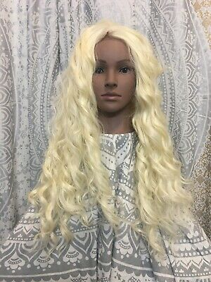 613 Blonde Multistyle  Lace Front Long Spiral Curl Wig Preowned Altered Lace Cut