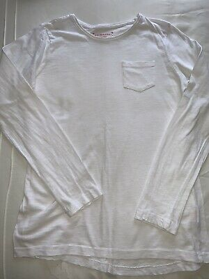 Girls Long Sleeved White Tshirt Aged 12-13 Years