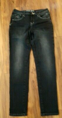 Justice Girls Black Low-Rise Skinny Jeans size 12.