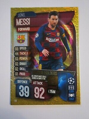 Match Attax CL 2019/20 Record Holders card - Lionel Messi of Barcelona