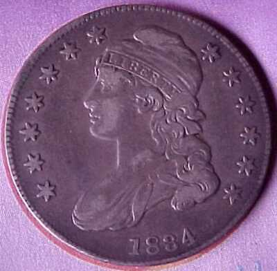 High Grade 1834 United States Capped Bust Silver Half Dollar 50 Cent Coin