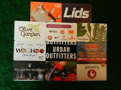 Lot Of Eleven (11) All Different Collectible Only *Gift Cards*