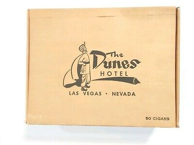 Dunes Casino Las Vegas, Nevada Sultan Logo Cigar Box Great For Any Collection!