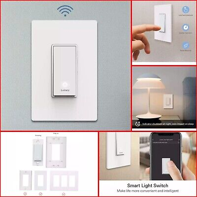 Lumary Smart Wi-Fi Electrical In-Wall Decor Light Switch for LED, CFL, Halogen