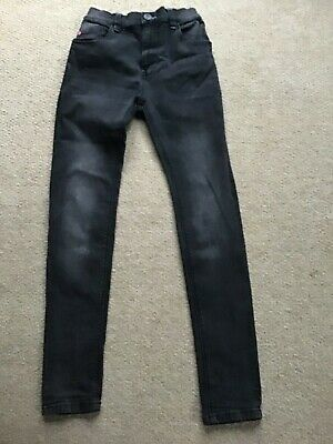 Boys Next Black Super Skinny Jeans Size 12 Years Stretch
