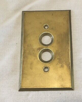 Vintage ARROW Solid Brass Push Button Single Light Switch Wall Cover Plate