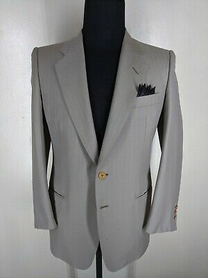 CANALI True Vintage Made In Itay 100% Wool Suit 2 Btn No vents  40 Reg