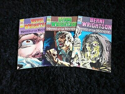 Bernie Wrightson Master Of The Macabre Full Set 1 2 3 1St 1983 Pacific Rare Loop