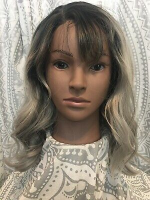 Preowned Altered Ombre silver lace Front Wig Classic Adjustable Cap