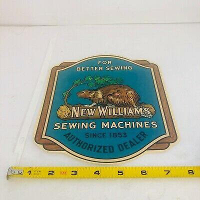 Vintage New Williams Sewing Machines Since 1853 Dealer Decal Montreal Quebec