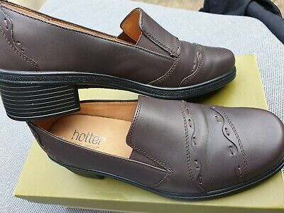 Brand NEW HOTTER COMFORT CONCEPT Corelli CHOCOLATE LEATHER SHOES SIZE UK 4.5
