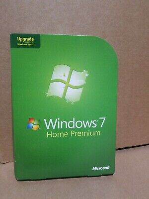 Microsoft Windows 7 Home Premium Full 32 Bit & 64 Bit DVD MS WIN =RETAIL BOX=