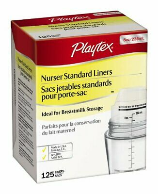 Playtex Pre-Sterilized Disposable Liners, 8 Ounce, 125-Count