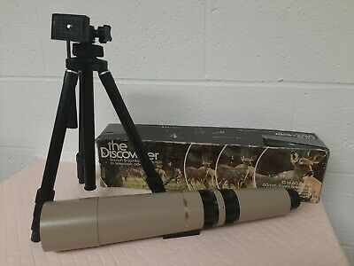 """Vintage Bausch & Lomb Zoom, """"The Discoverer"""" 15-60 mm Spotting Scope Telescope"""
