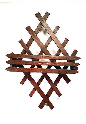 Victorian Wood Lattice Magazine Wall Rack Letter Holder - Lattice Wall Rack