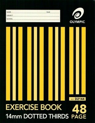 Olympic Dotted Thirds 14mm Exercise Book 48 page 225x175mm 140739