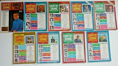 9 Issues 1968 Country Song Roundup Magazine 8 Magazines & Annual, Country Music