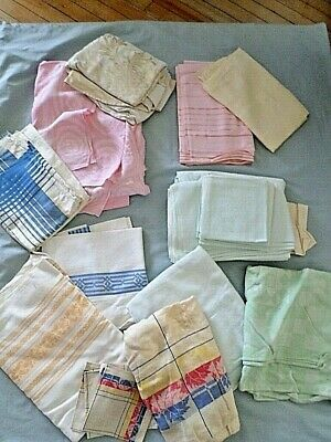Vintage Table Clothes Lot of 12 cutters re-purpose restore repair crafts Estate3