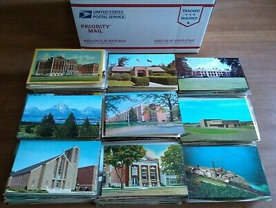 Large Lot of 1000 + Vintage Postcards - Mostly USA Views
