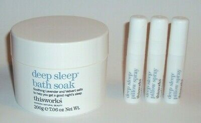 This Works Deep Sleep Bath Soak 7.06 oz 200g + 3 Pillow Sprays 0.17 oz