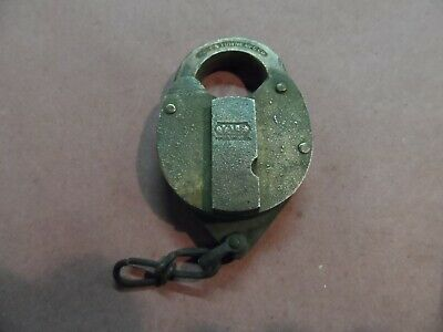 Vintage All Brass Yale And Towne Mfg. Co. Railroad Style Padlock