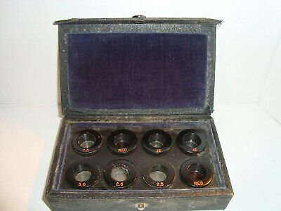 Bausch & Lomb B & L Vintage Antique Phoropter Auxiliary Lenses w/ Case
