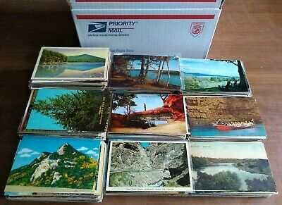 Lot of 1000 + Scenic View Postcards - Most From the USA